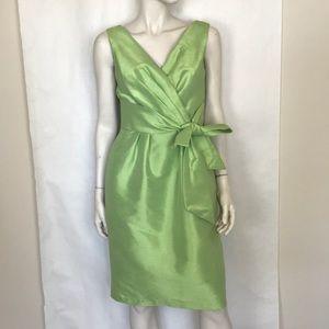 Alfred Sung pistachio green sleeveless tie dress 4